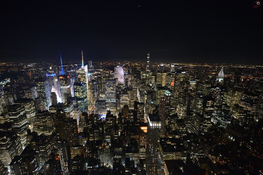 Manhattan in the night
